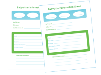 free printable info sheet