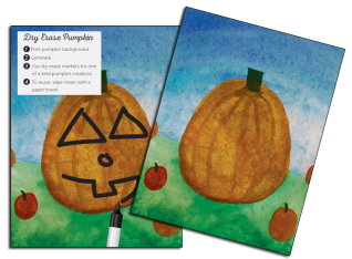 Dry Erase Pumpkin Craft