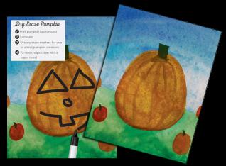 Dry Erase Pumpkin Craft