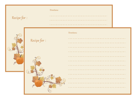 Thanksgiving Recipe Card